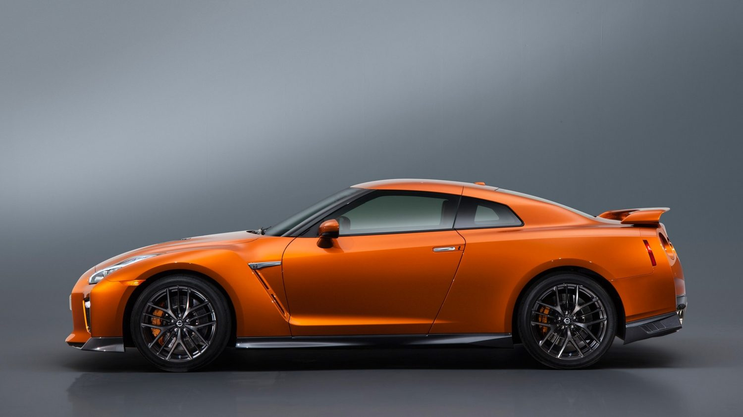 GTR in Orange side view