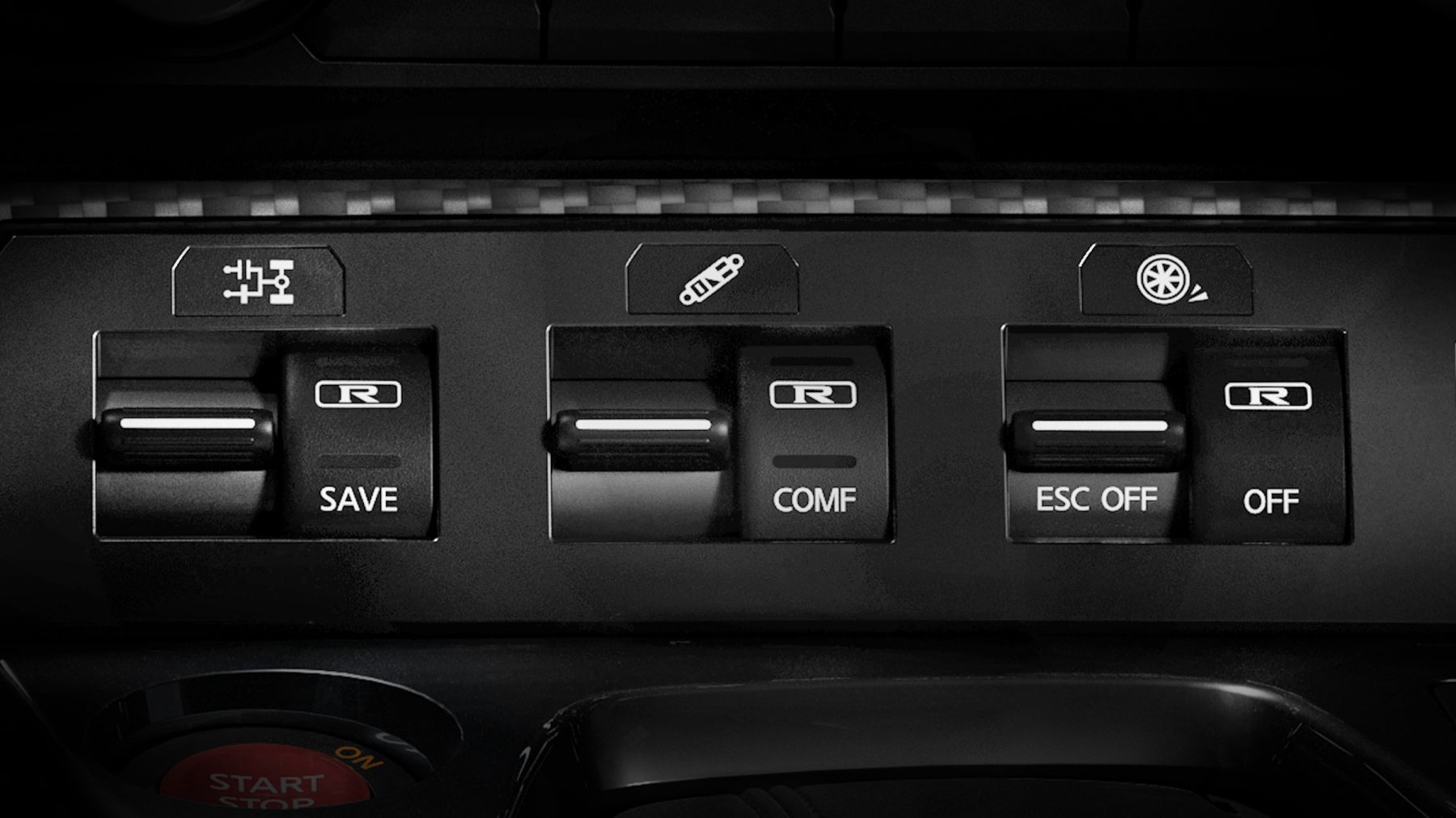 Nissan GT-R 3-mode switch NORMAL MODE