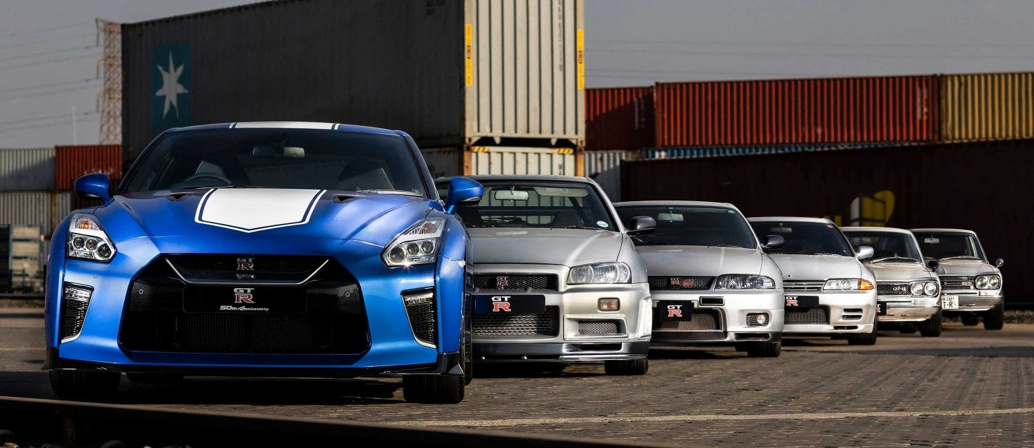 GT-R 50th heritage line-up