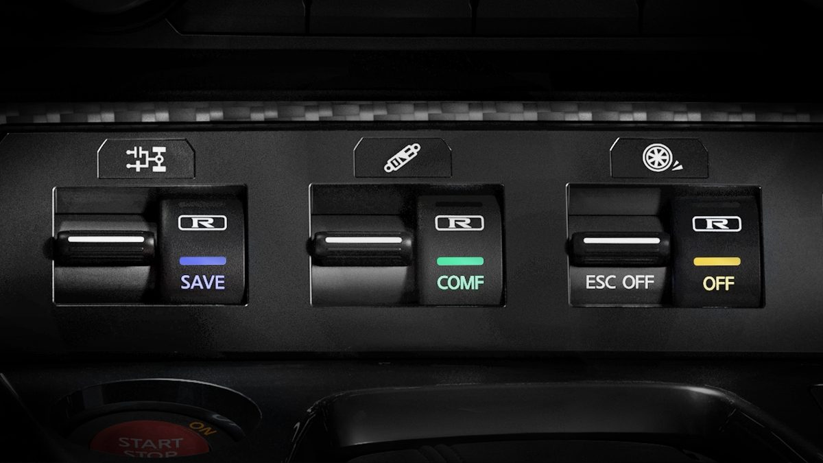 Nissan GT-R 3-mode switch SPECIAL MODES