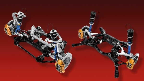Nissan GT-R front and rear suspension
